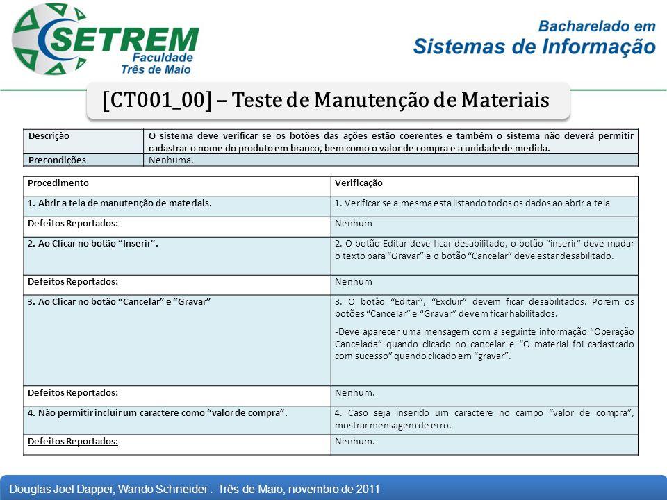 [CT001_00] – Teste de Manutenção de Materiais